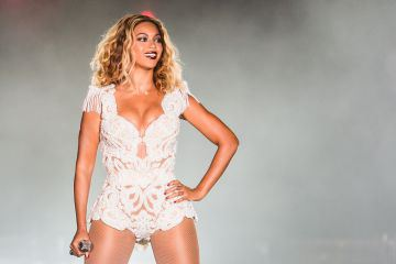 Singer Beyonce performs on stage during a concert in the Rock in Rio Festival on September 13, 2013 in Rio de Janeiro, Brazil