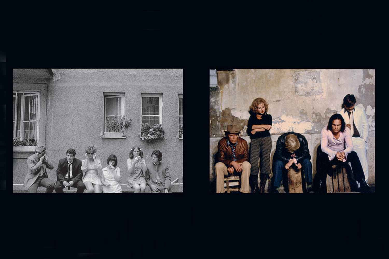 Film stills, from left:  Katzelmacher (1969), Beware of a Holy Whore (1970)