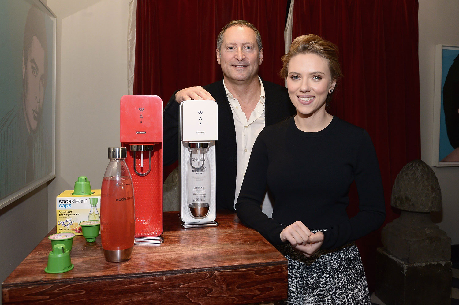 SodaStream unveiled Scarlett Johansson as its first-ever Global Brand Ambassador on Jan. 10, 2014 in New York.
