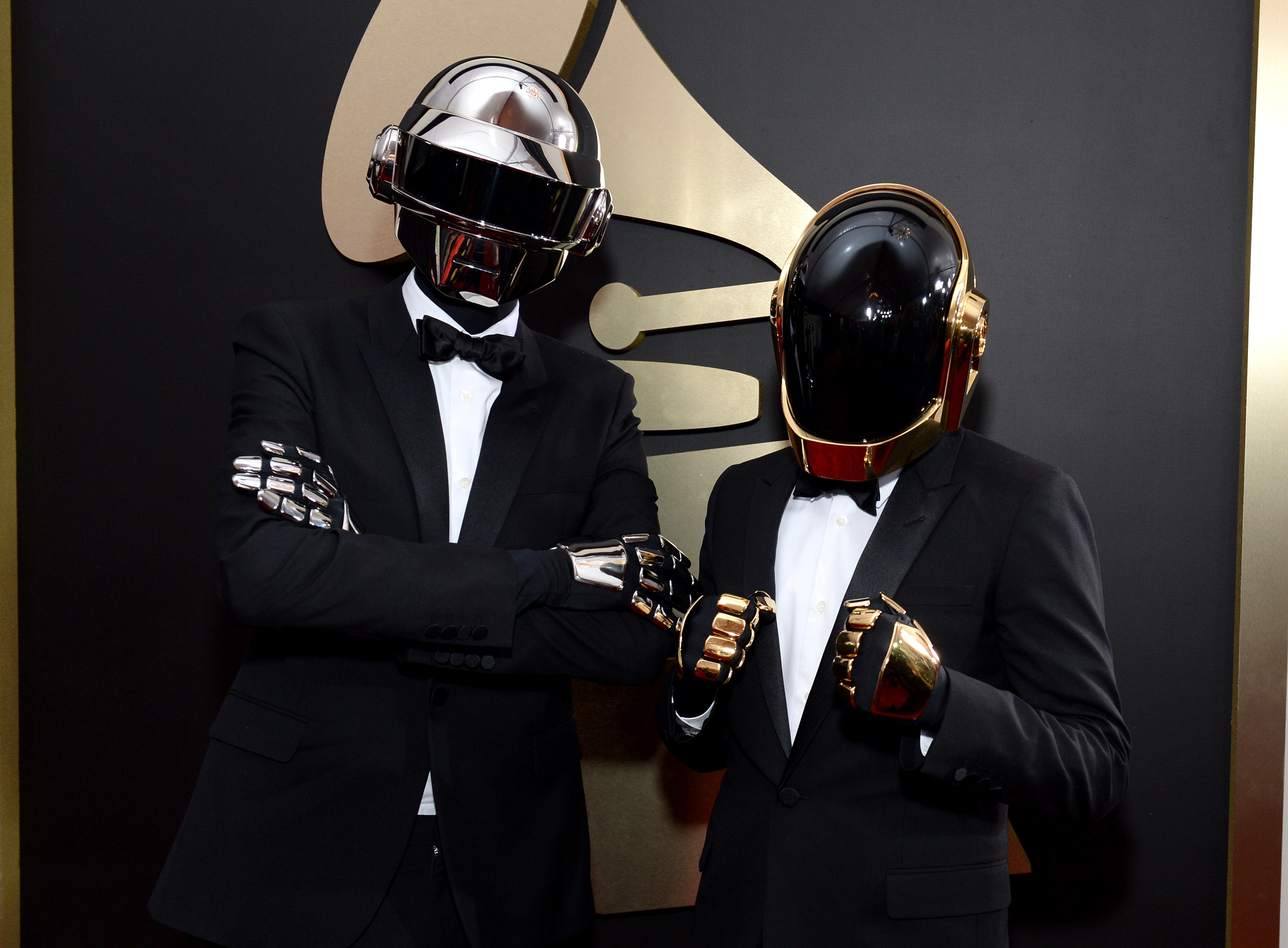 Daft Punk attends the 56th GRAMMY Awards at Staples Center on January 26, 2014 in Los Angeles, California.