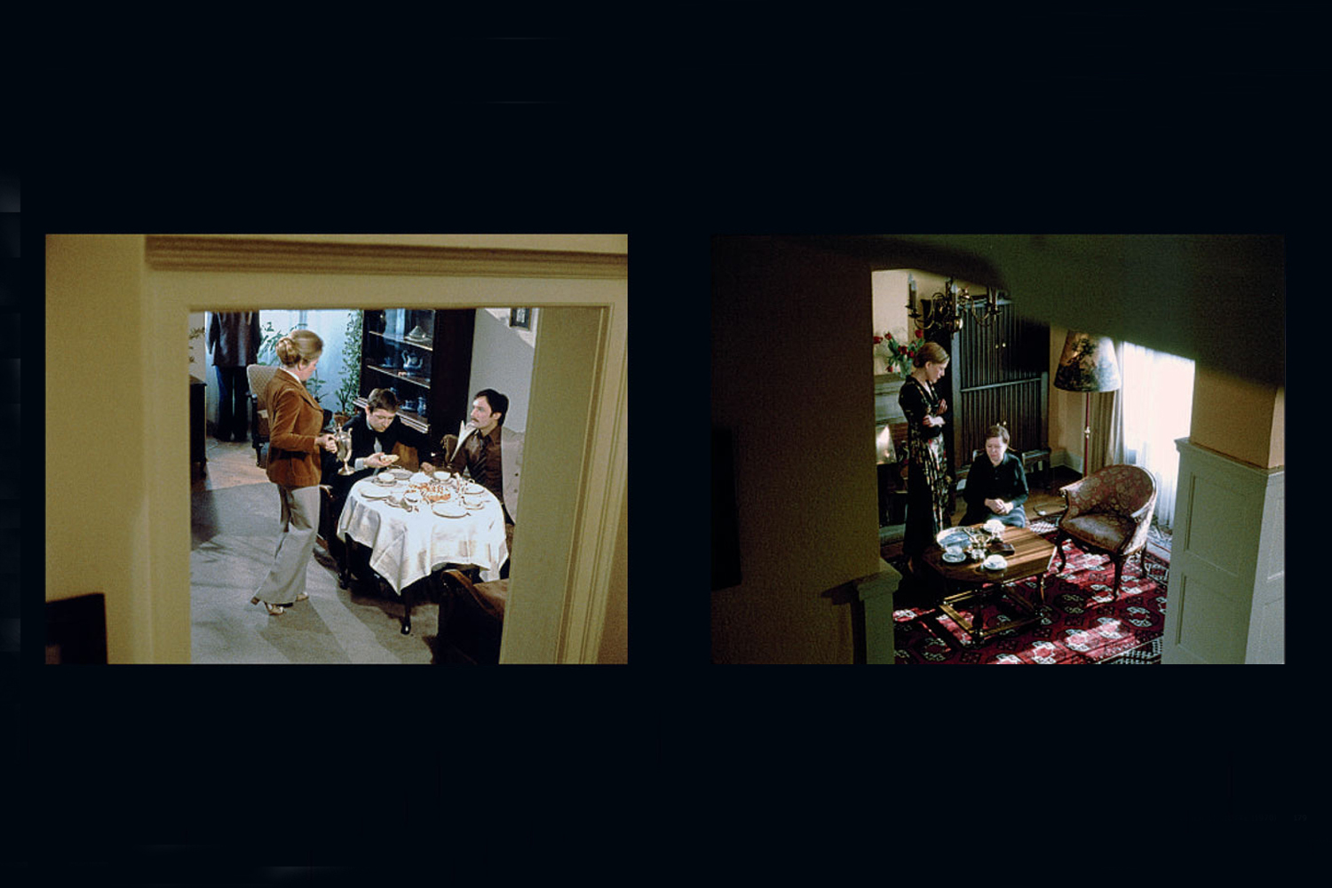 Film stills, from left: Right Fist of Freedom (1974), Mother Küsters' Trip to Heaven  (1975)