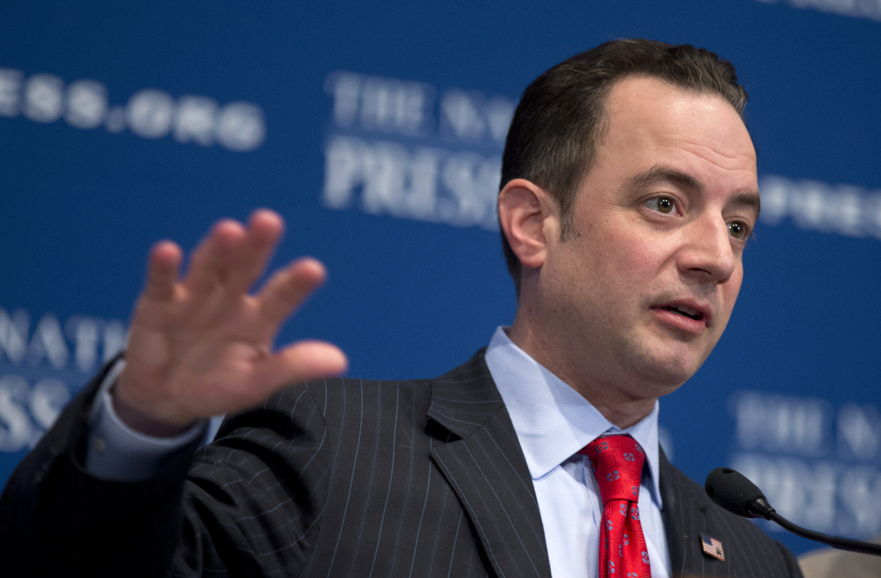 Republican National Committee Chairman Reince Priebus at the National Press Club in Washington, in 2013. Republican National Committee Chairman Reince Priebus at the National Press Club in Washington, in 2013.