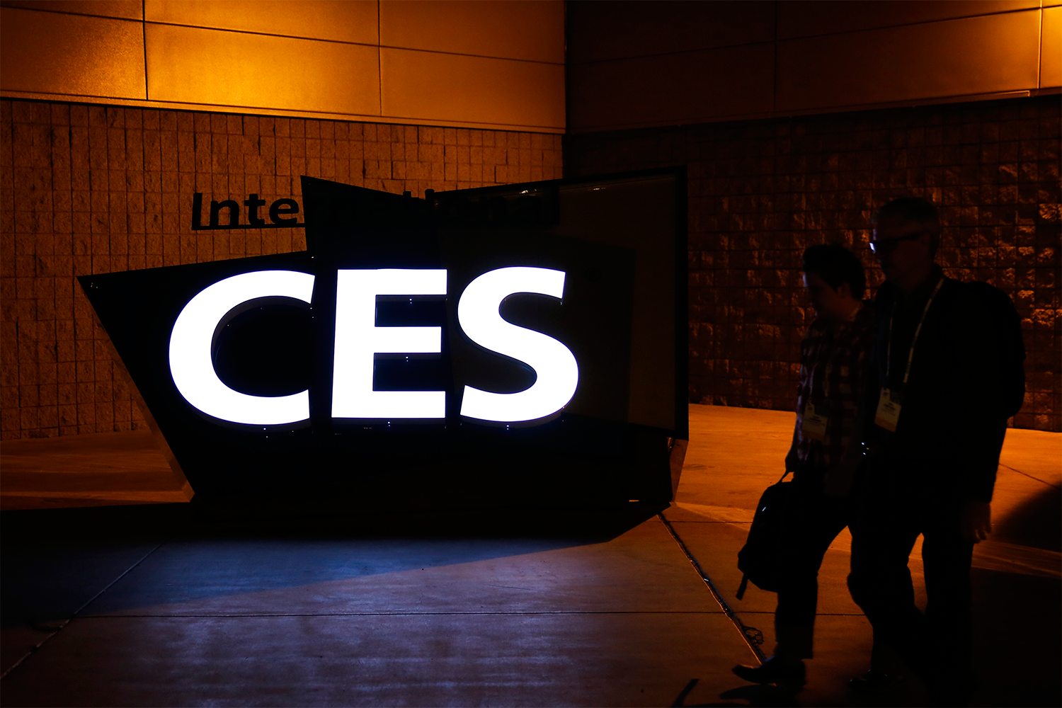 A sign at International CES 2014 in Las Vegas