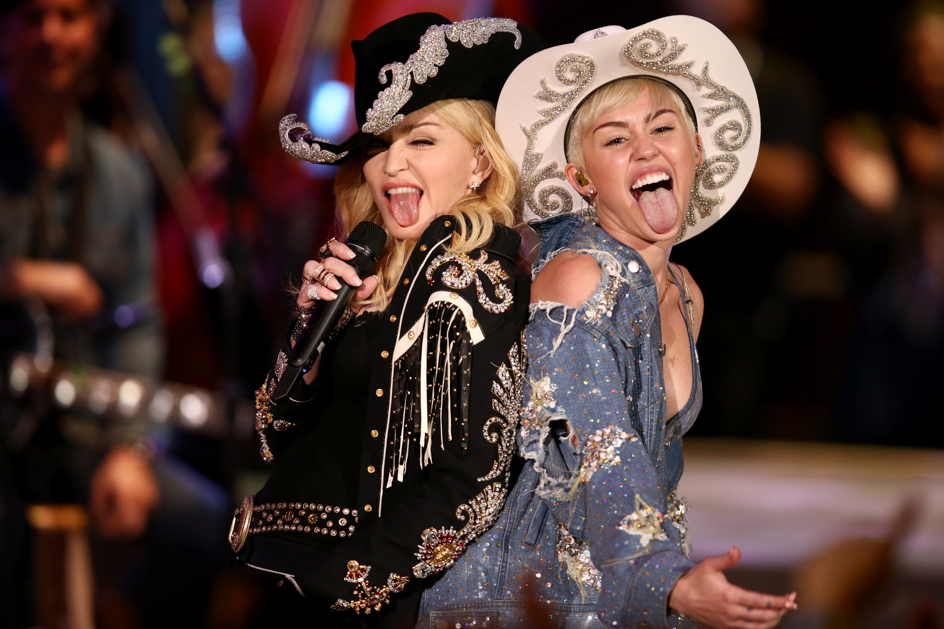 Miley Cyrus and Madonna team up for Cyrus' 'Unplugged' special.