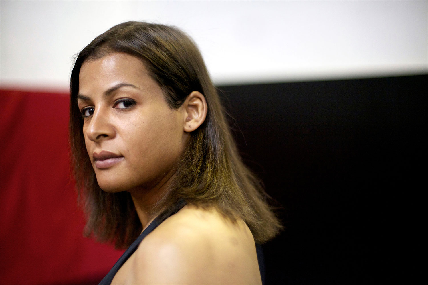 Fallon Fox trains at her local gym in Schaumburg, Ill., April 25, 2013.