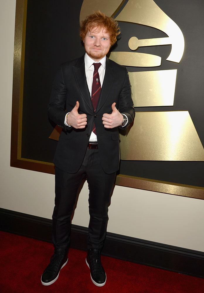 Best Tie - Ed Sheeran The tie belongs to Sheeran's recently deceased grandfather.