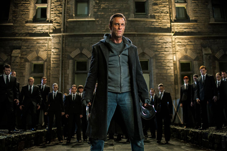 Aaron Eckhart stars as 'Adam' in I, FRANKENSTEIN.