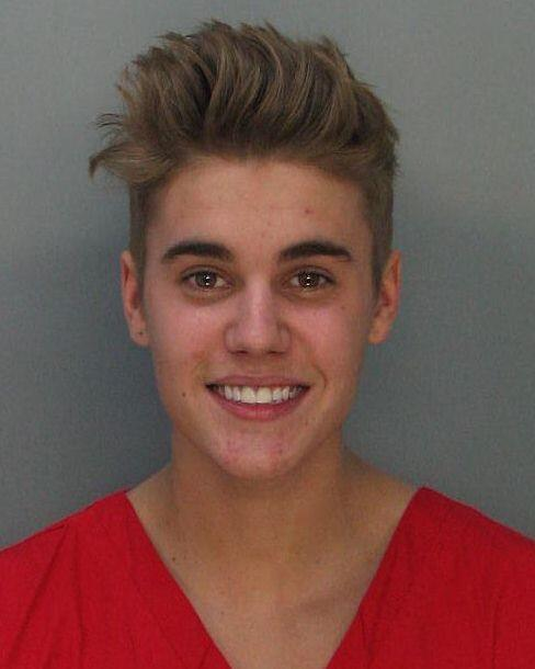 Mugshot of Justin Bieber, released on Jan. 23, 2014.
