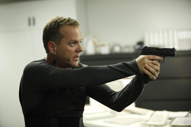 Jack (Kiefer Sutherland) faces off with Marcos in the  2:00 - 3:00 AM  episode of 24 that aired Monday, March 8 on FOX.