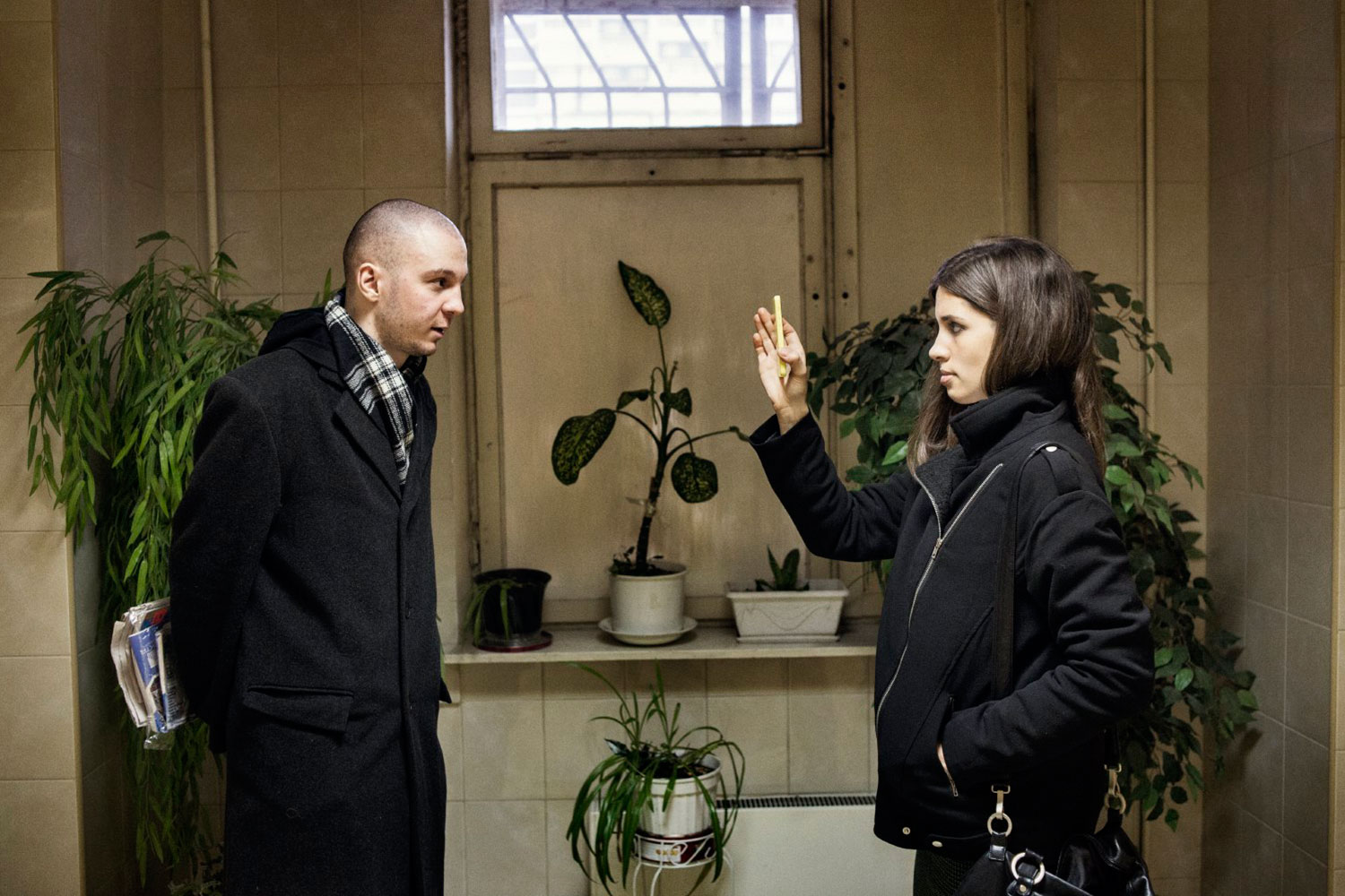 Nadezhda Tolokonnikova is interviewed by Vladimir Akimenkov, one of four defendants in the Bolotnoye case, who has been released on amnesty at the same time as Pussy Riot.