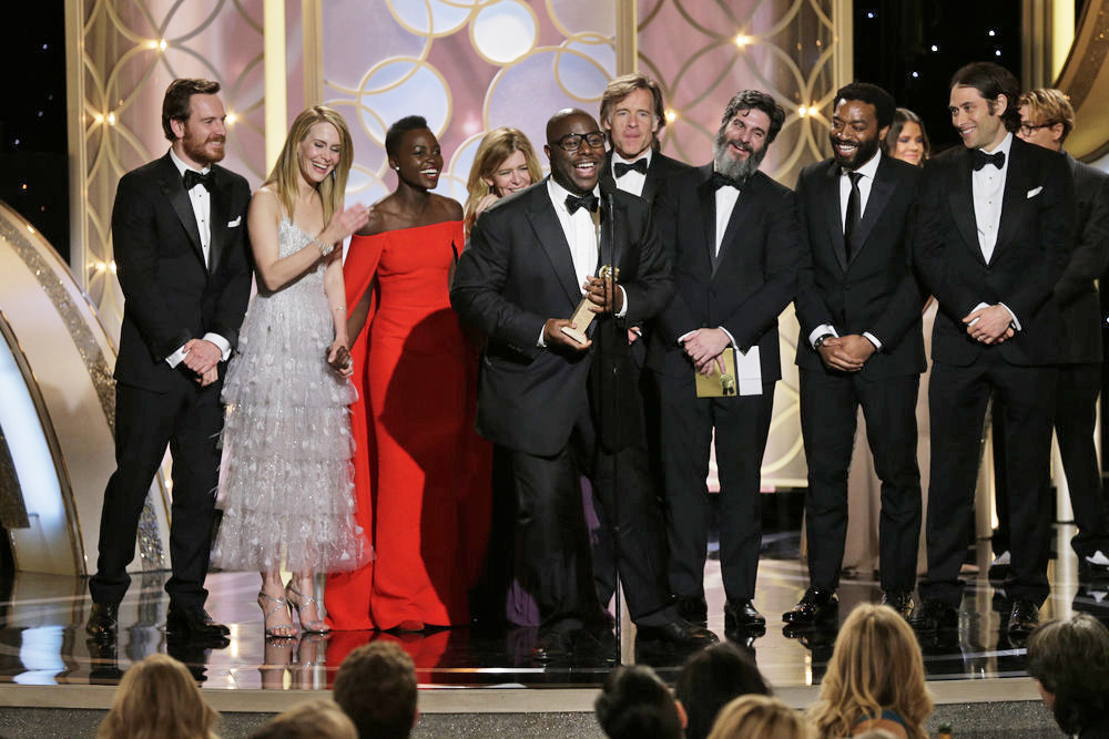 Steve McQueen, Winner, Best Motion Picture, Drama,  12 Years a Slave  at the 71st Annual Golden Globe Awards held at the Beverly Hilton Hotel on Jan. 12, 2014.