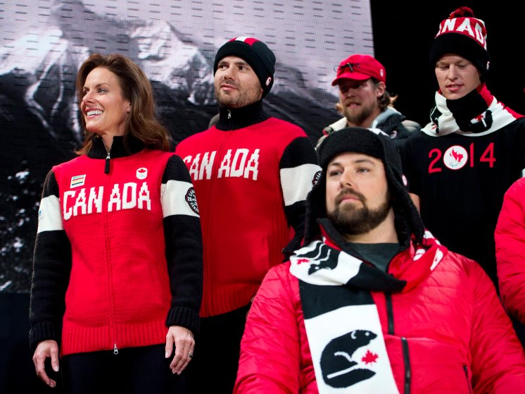 It's entirely possible the Canadian team's uniforms were knitted by their moms.