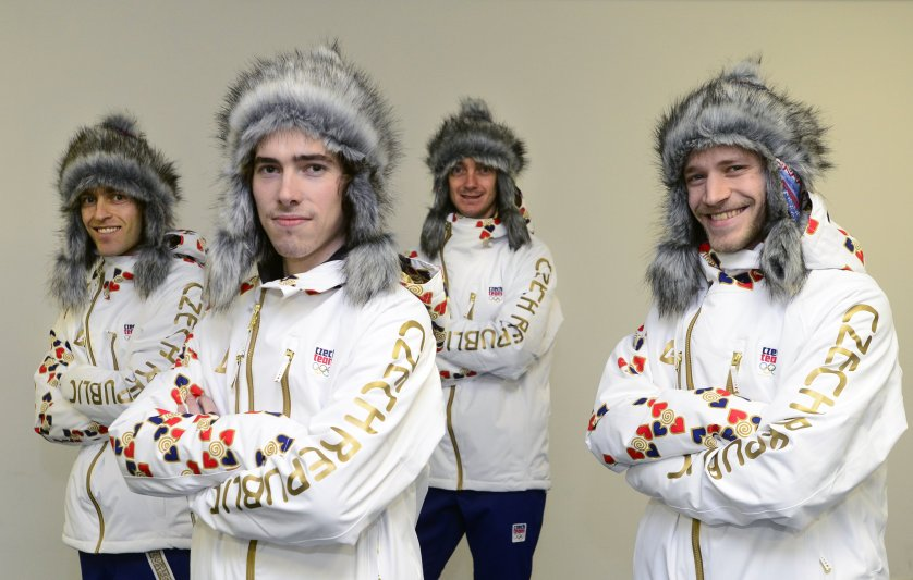 These Czech ski jumps get the gold in grinning and bearing it.