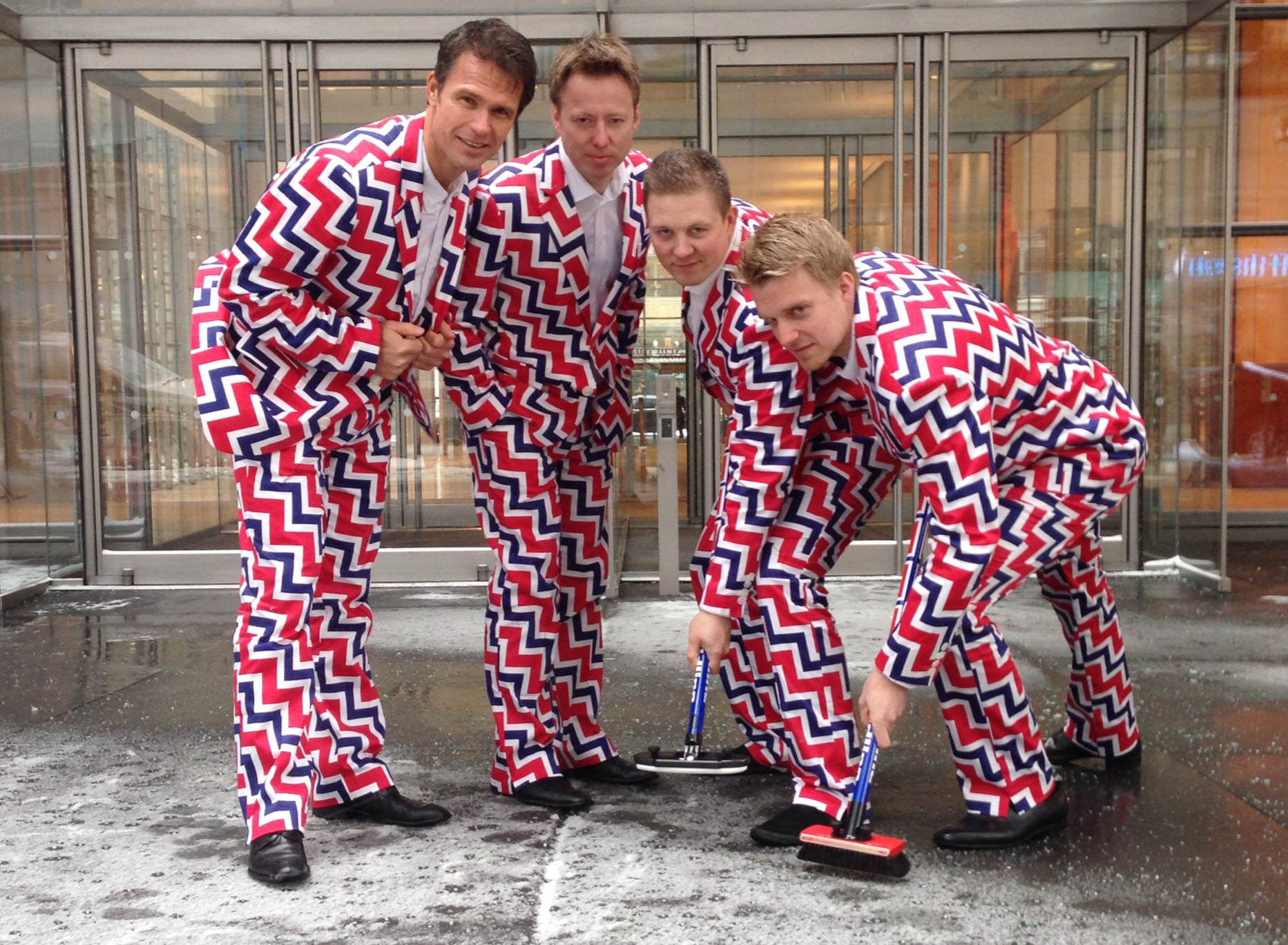 If Norway's curling team fails to win a gold medal, the Eurovision Song Contest beckons.