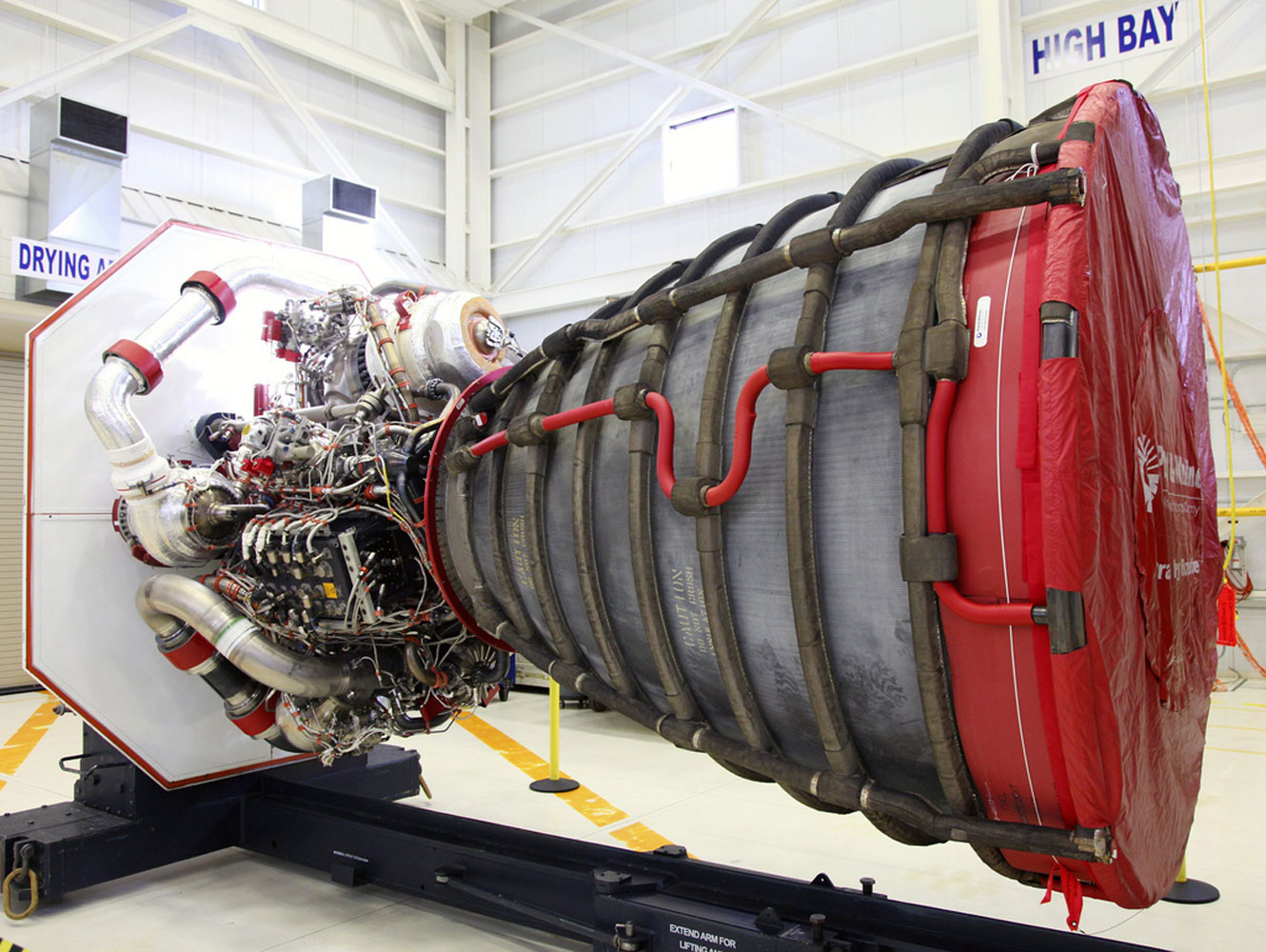 A RS-25D engine built for the shuttle program will instead be used to power the SLS booster.
