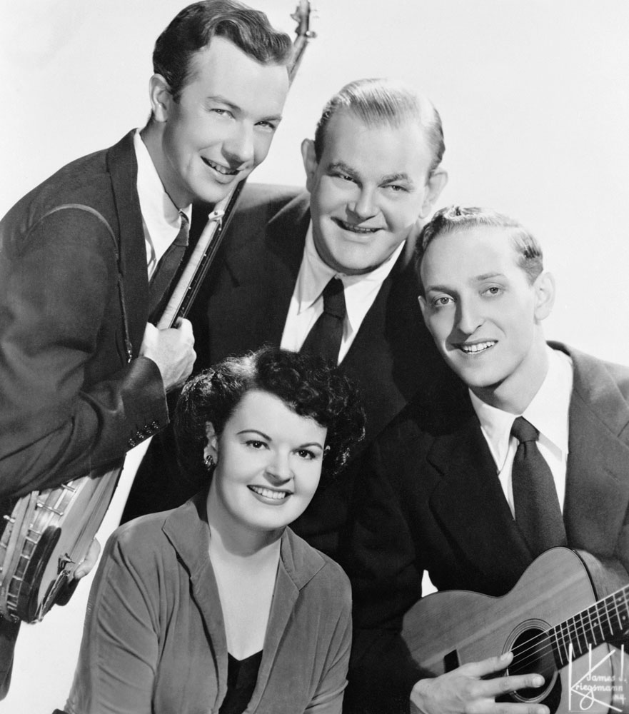From top left (clockwise): Pete Seeger, Lee Hayes, Fred Halterman, and Ronnie Gilbert of The Weavers in Philadelphia, on Feb. 26,1953.