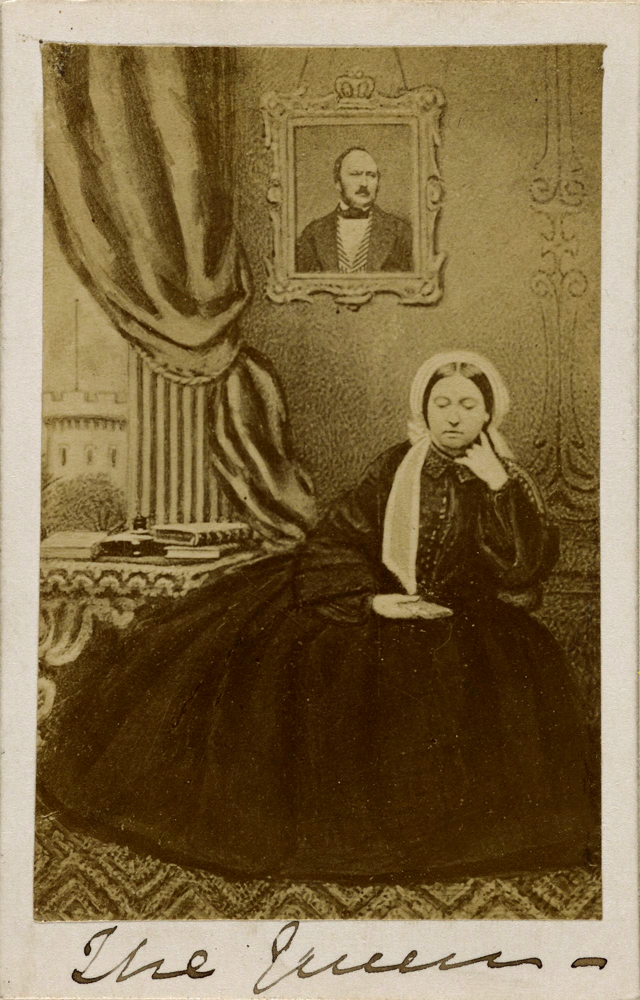 The Queen with a photograph of Prince Albert, c. 1862
