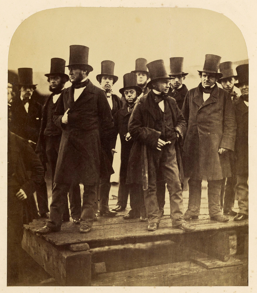 I.K. Brunel and Others Observing the  Great Eastern  Launch Attempt, November 1857