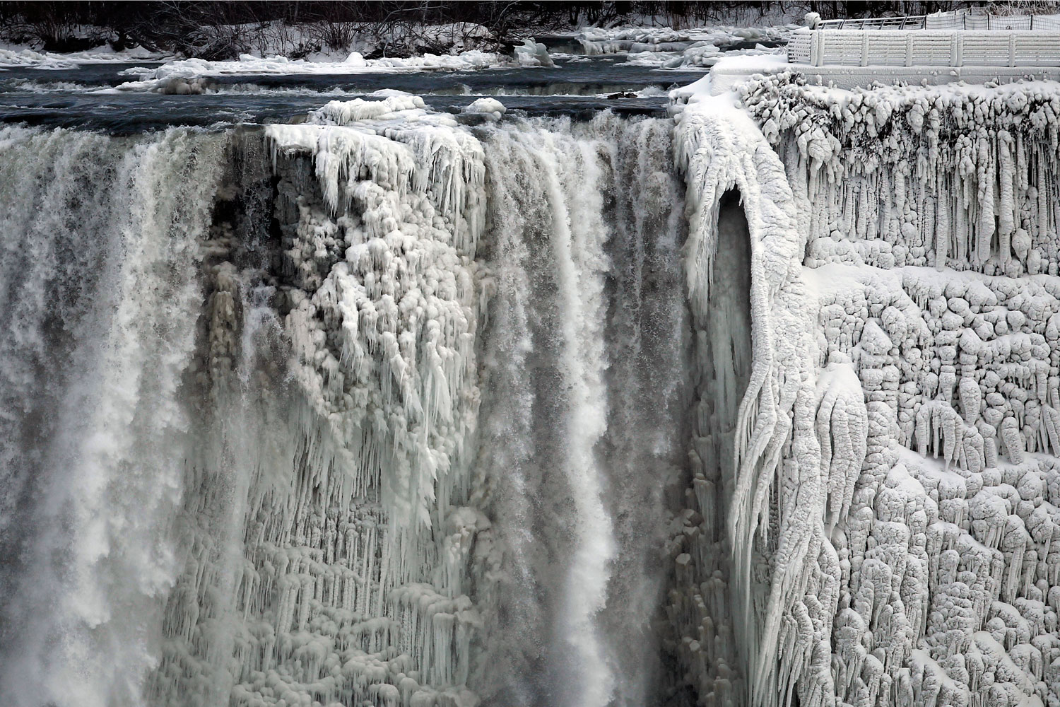 Jan. 8, 2014. The U.S. side of the Niagara Falls is pictured in Ontario, Canada.