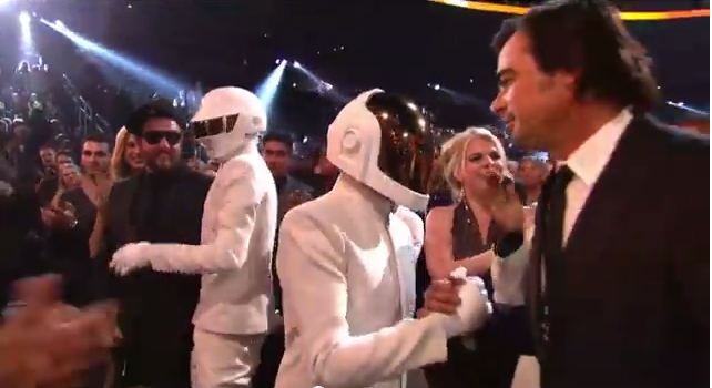 Did Daft Punk Go Helmet Less At The 2014 Grammys Time