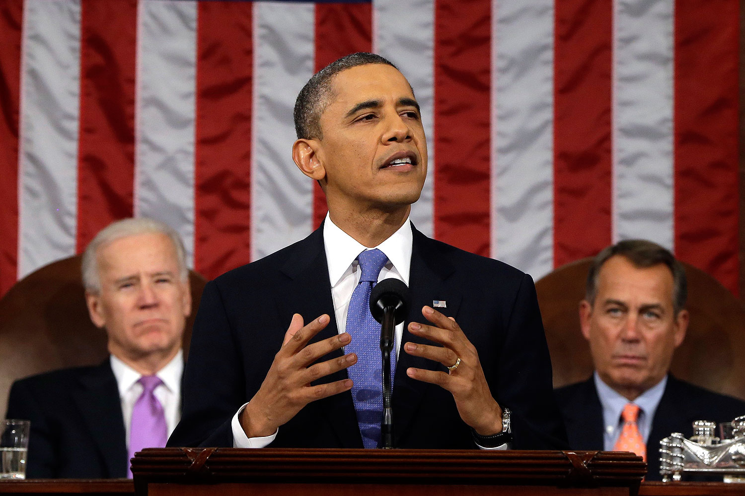 President Barack Obama, gives the State of the Union address in Washington on Tuesday, Feb. 12, 2013.