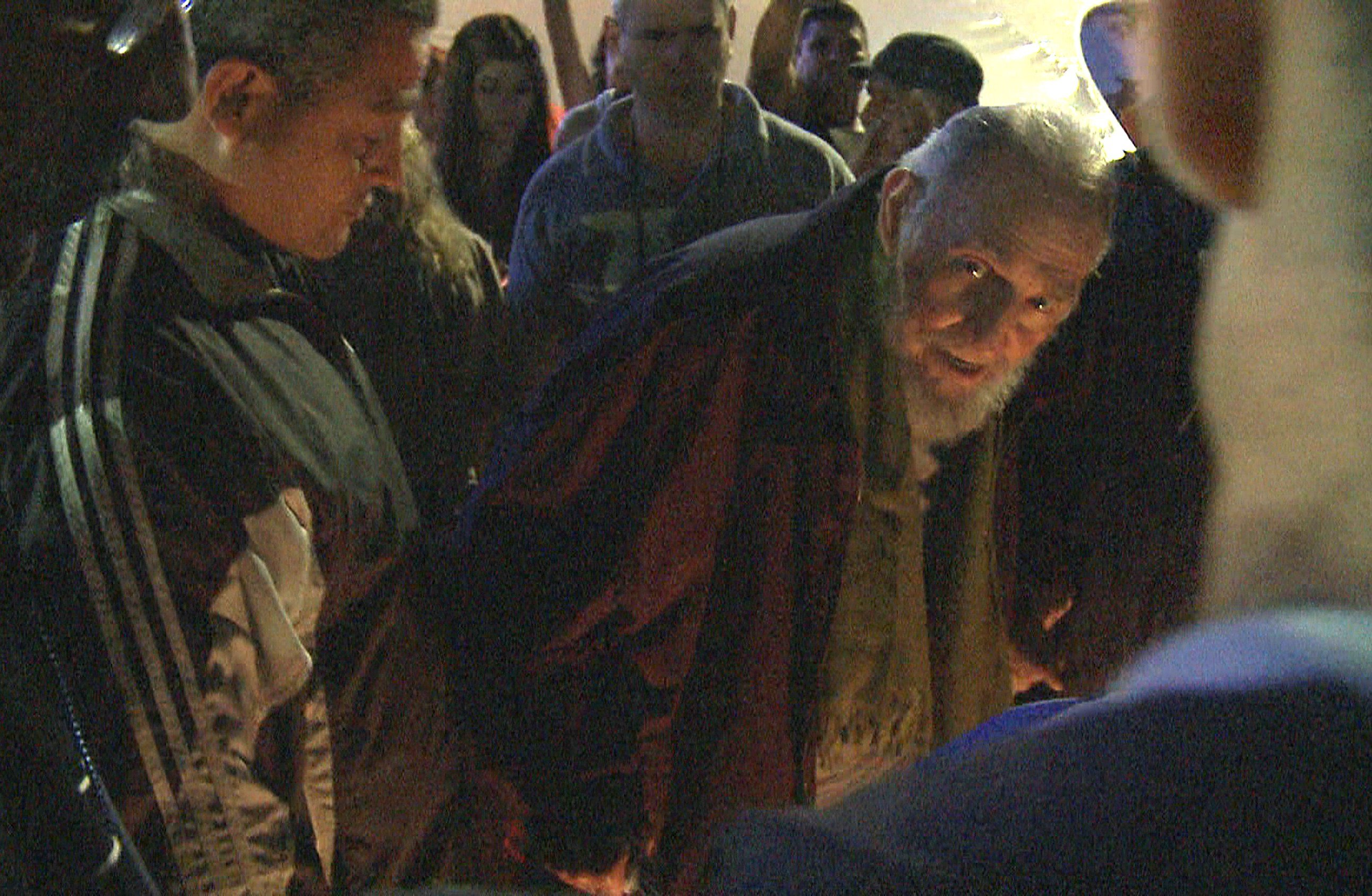 Former Cuban president, Fidel Castro, appeared in public for the first time in nine months, Jan. 8, 2014, when he attended the opening of Kcho Romerillo, Laboratory for Art, in Havana, Cuba, as seen in this image grab from a video.