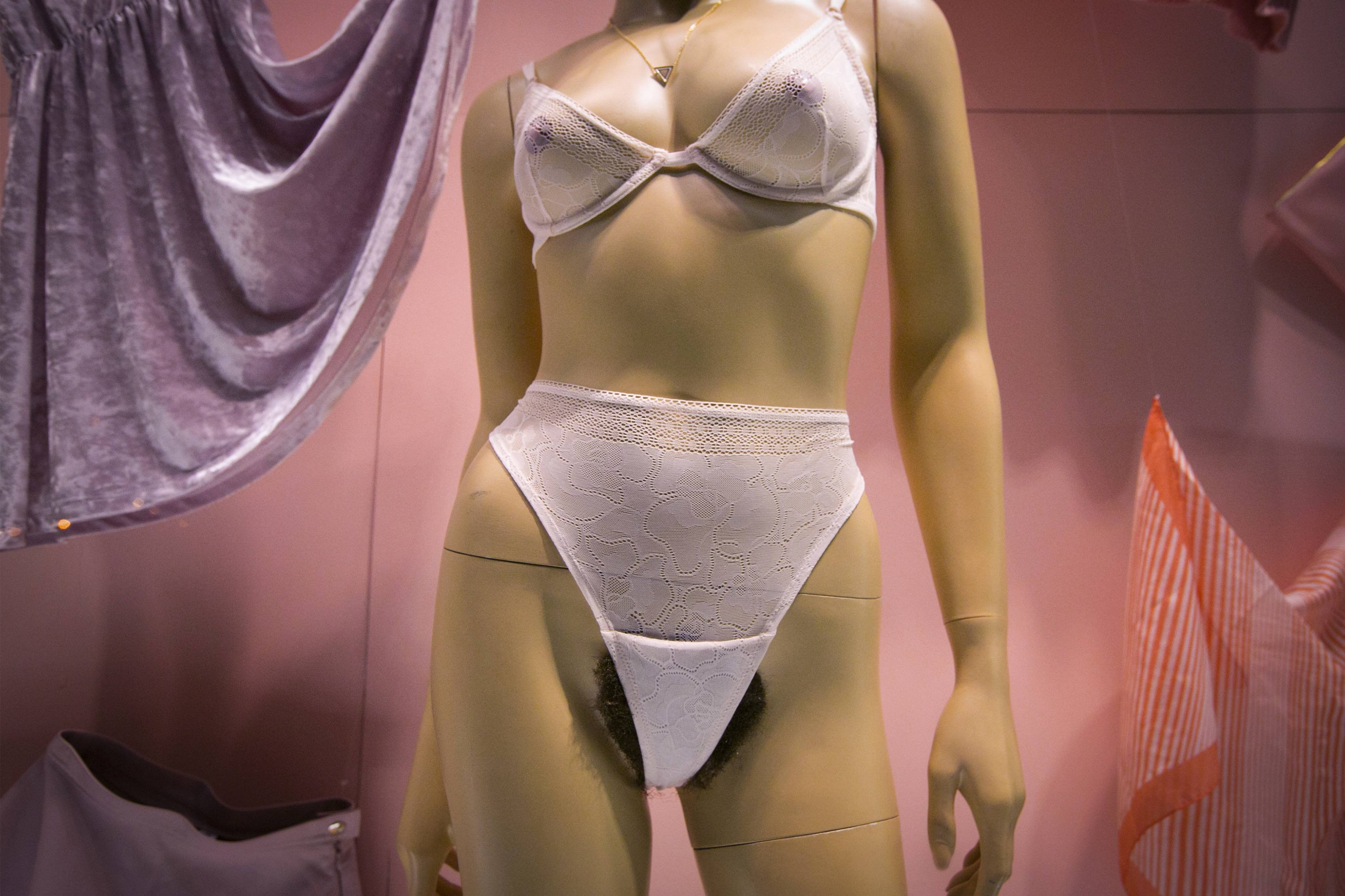 An anatomically correct female mannequin is displayed at the American Apparel store in the SoHo area of Manhattan, New York, Jan. 16, 2014. American Apparel's Lower East Side  Valentine's Day  window celebrates natural beauty, inviting passersby to explore the idea of what is  sexy  and consider their comfort with the natural female form, according to the company.