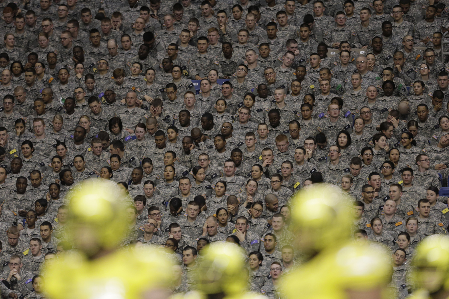 Jan. 4, 2014. Soldiers attend the U.S. Army All-American Bowl football game in San Antonio.