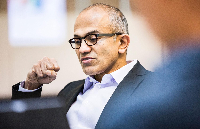 Microsoft's new chief executive officer Satya Nadella