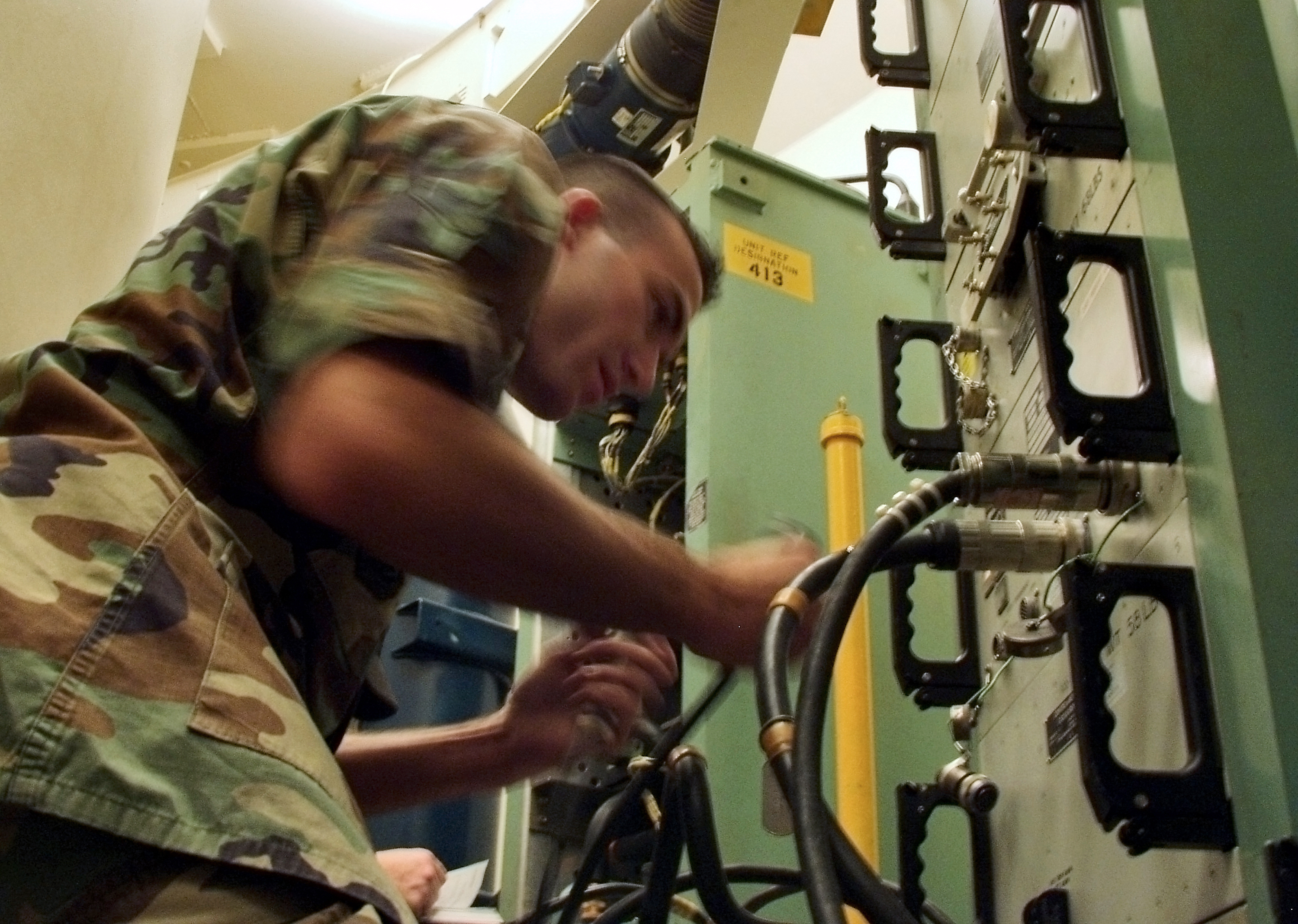Beyond the missileers, thousands of enlisted airmen like Airman 1st Class Matthew Lahood tend to the constant maintenance the Minuteman missile force requires.