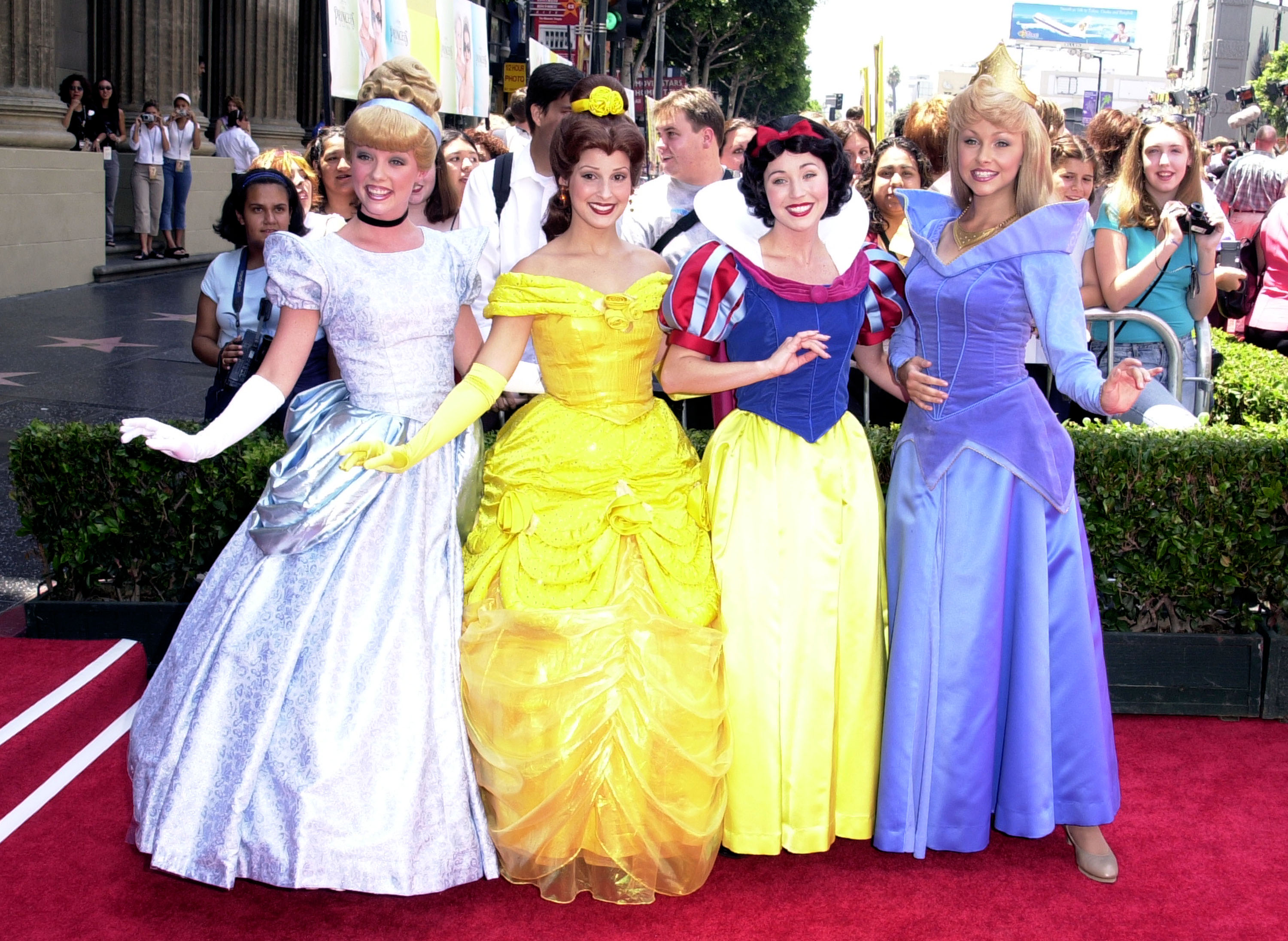 Disney Characters during The Princess Diaries Premiere at El Capitan Theatre in Hollywood, California, United States.
