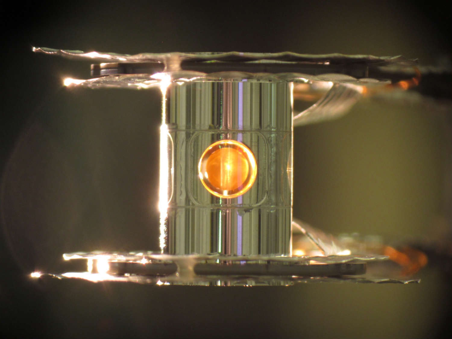 Nuclear fusion takes place within this tiny capsule of hydrogen