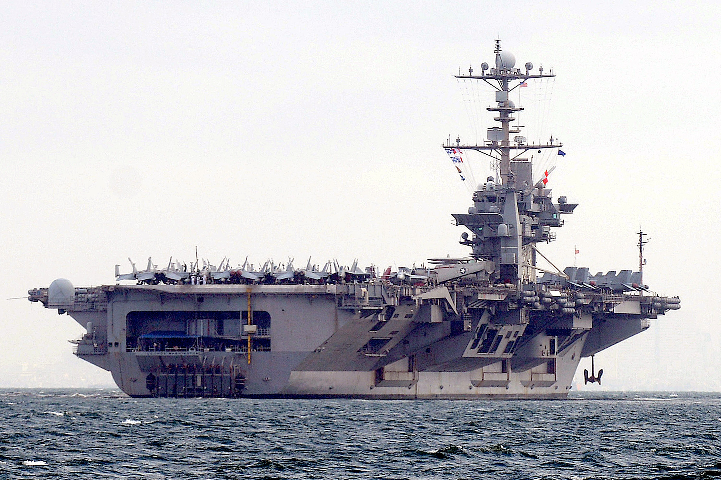 The USS George Washington in the Philippines in 2012.