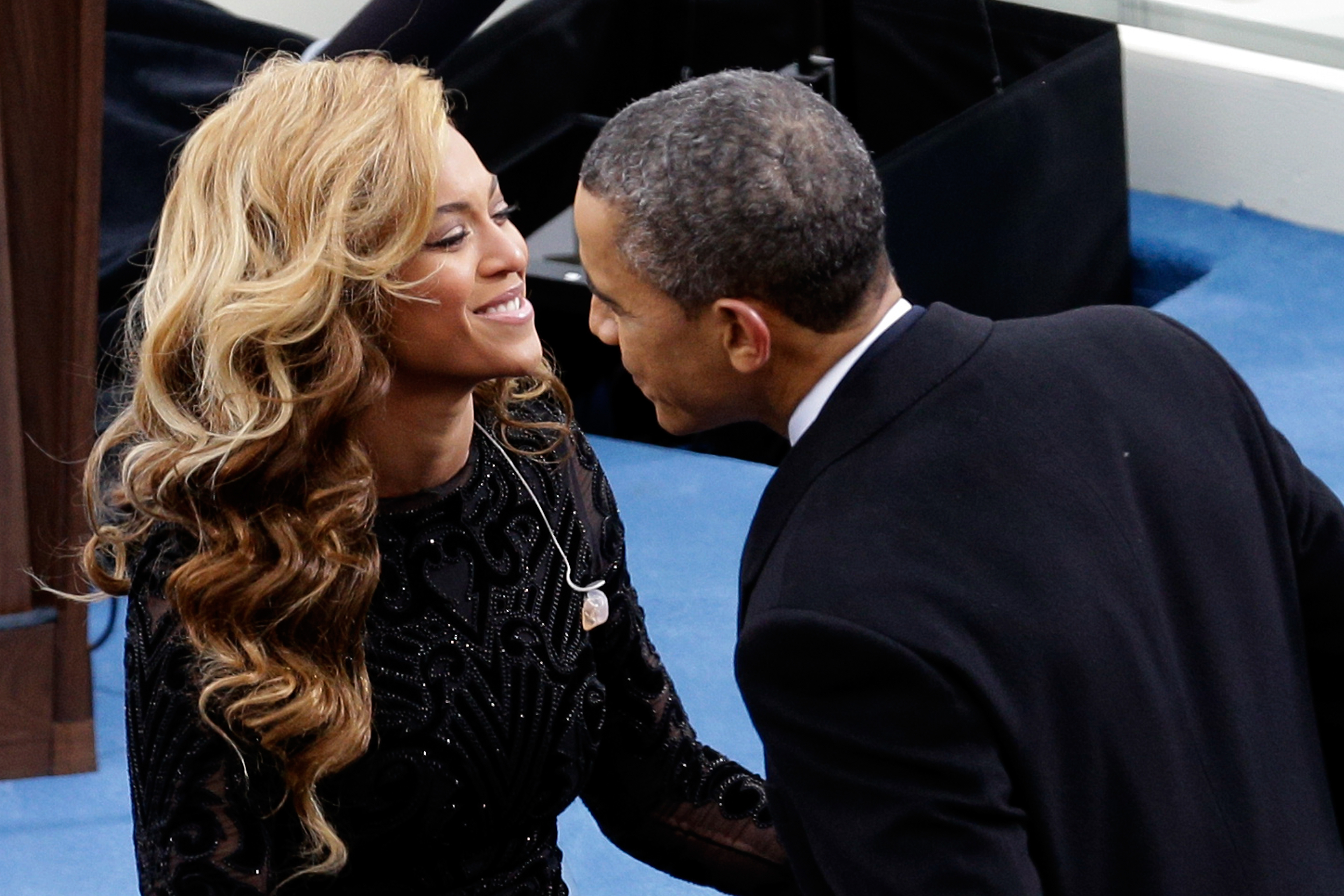 President Barack Obama and Beyonce at the Inauguration on January 21, 2013 in Washington, DC.