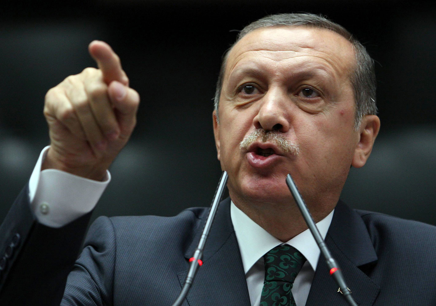 Turkish Prime Minister Tayyip Erdogan is applauded by members of parliament from his ruling Justice and Development Party (AKP) during a meeting at the Turkish parliament in Ankara June 25, 2013.