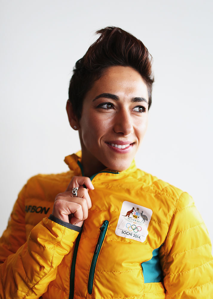 Lydia Lassila of Australia poses during the Australian Winter Olympics Games press conference at Museum of Contemporary Art on October 30, 2013 in Sydney, Australia.