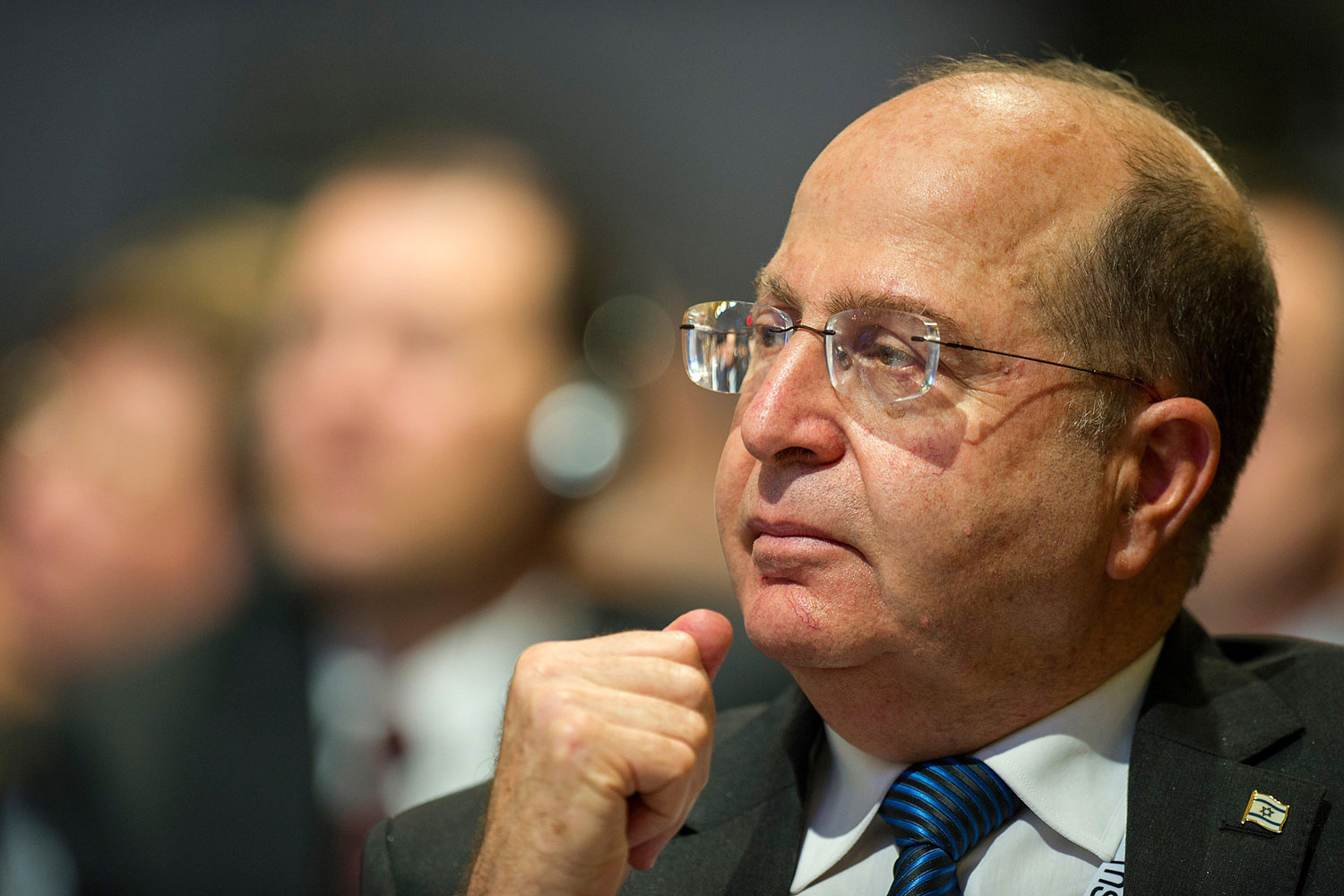 Israeli Defense Minister Moshe Ya'alon attends a meeting session of the Munich Security Conference in Munich,  Feb. 2, 2014.