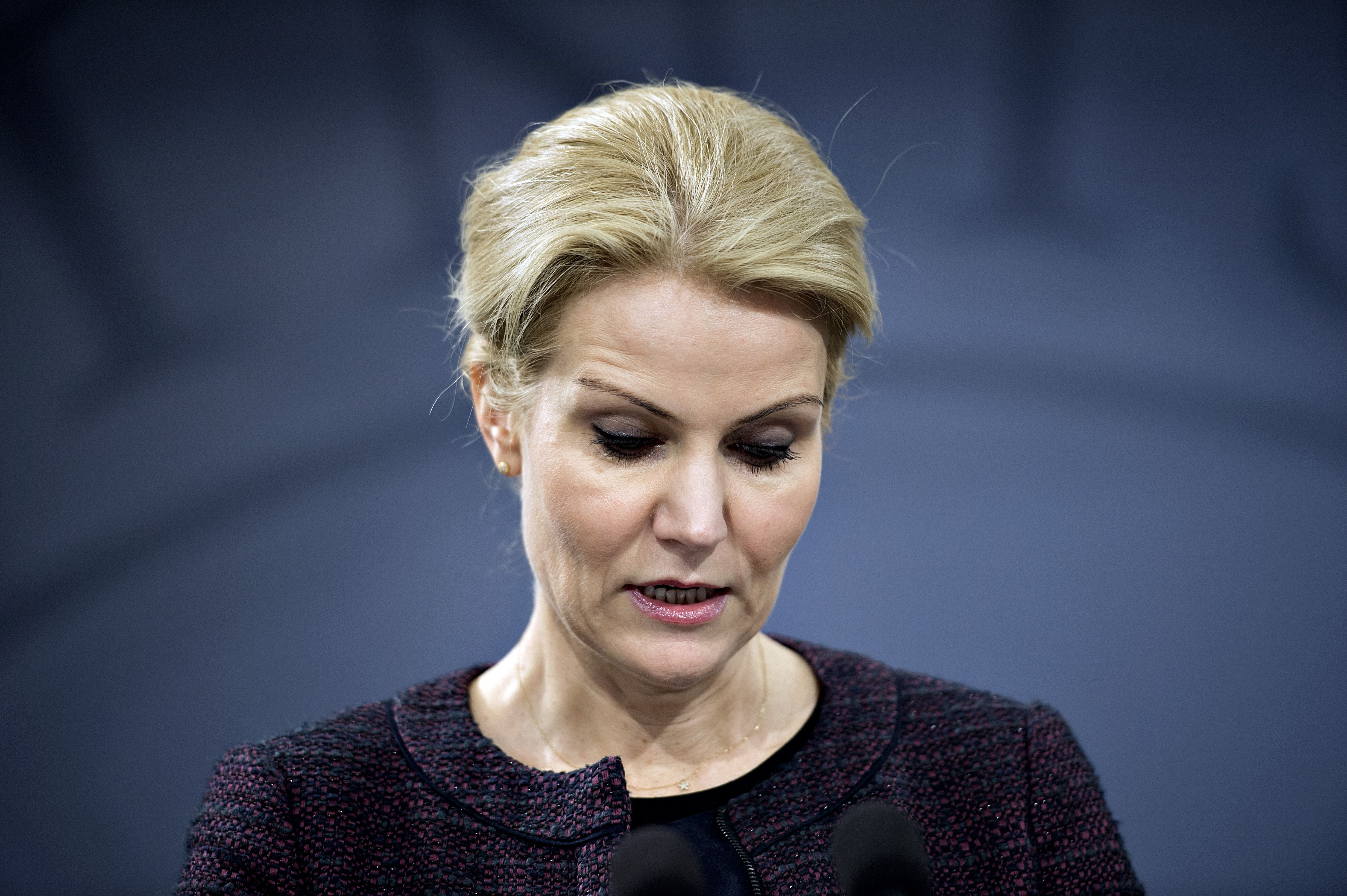 Danish Prime Minister Helle Thorning-Schmidt at a press conference on Jan. 30, 2014 at the Prime Minister's office in Copenhagen.