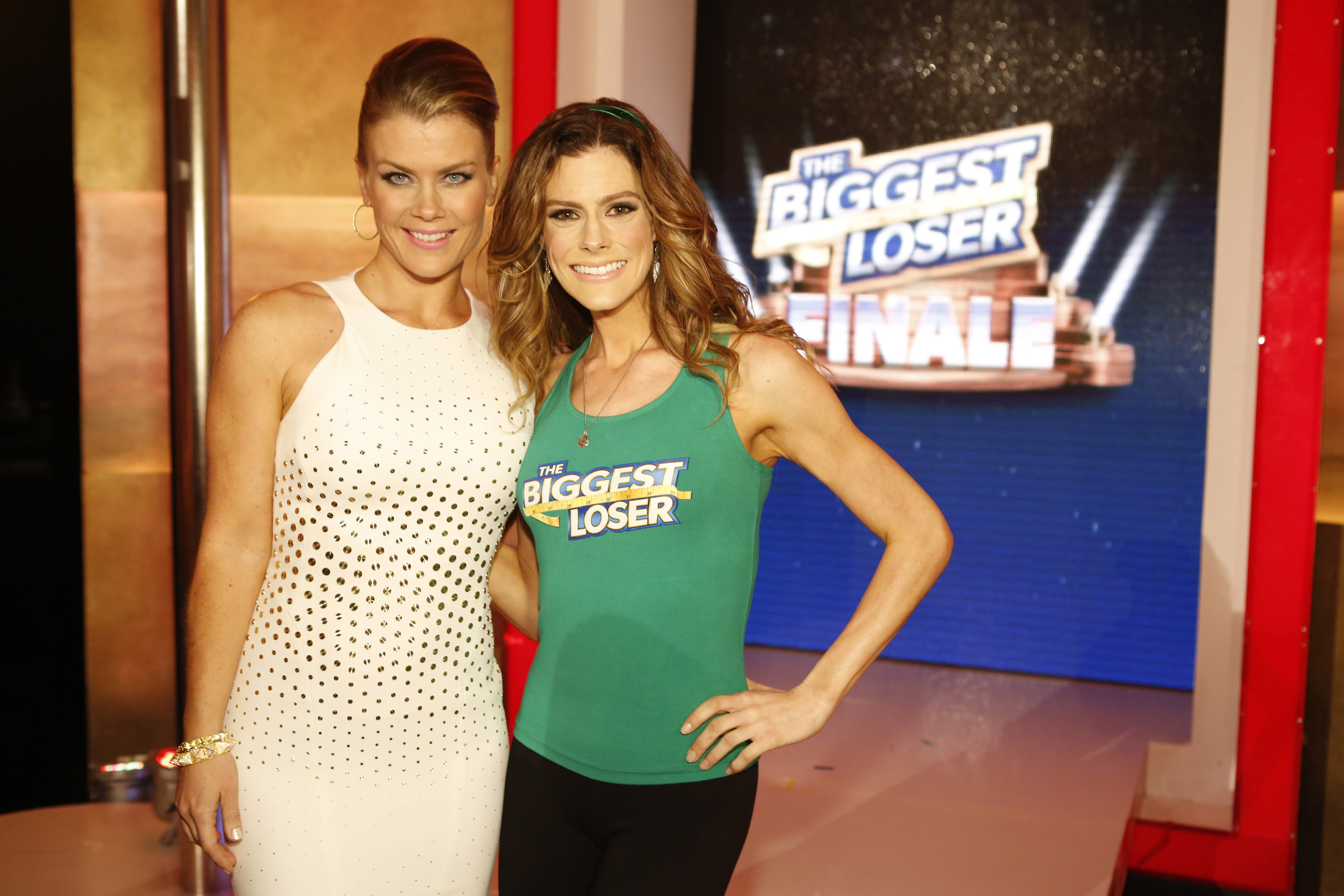 (l-r) Alison Sweeney and  Rachel Frederickson in the season 15 finale of The Biggest Loser