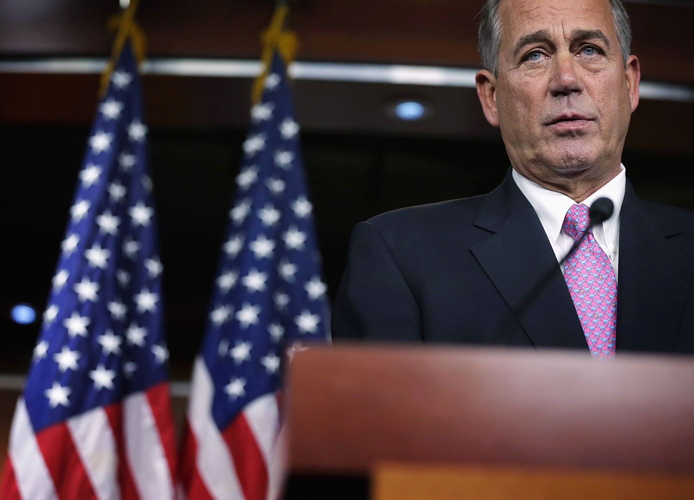 Speaker of the House, John Boehner speaks during his weekly news conference Feb. 6, 2014 on Capitol Hill in Washington.