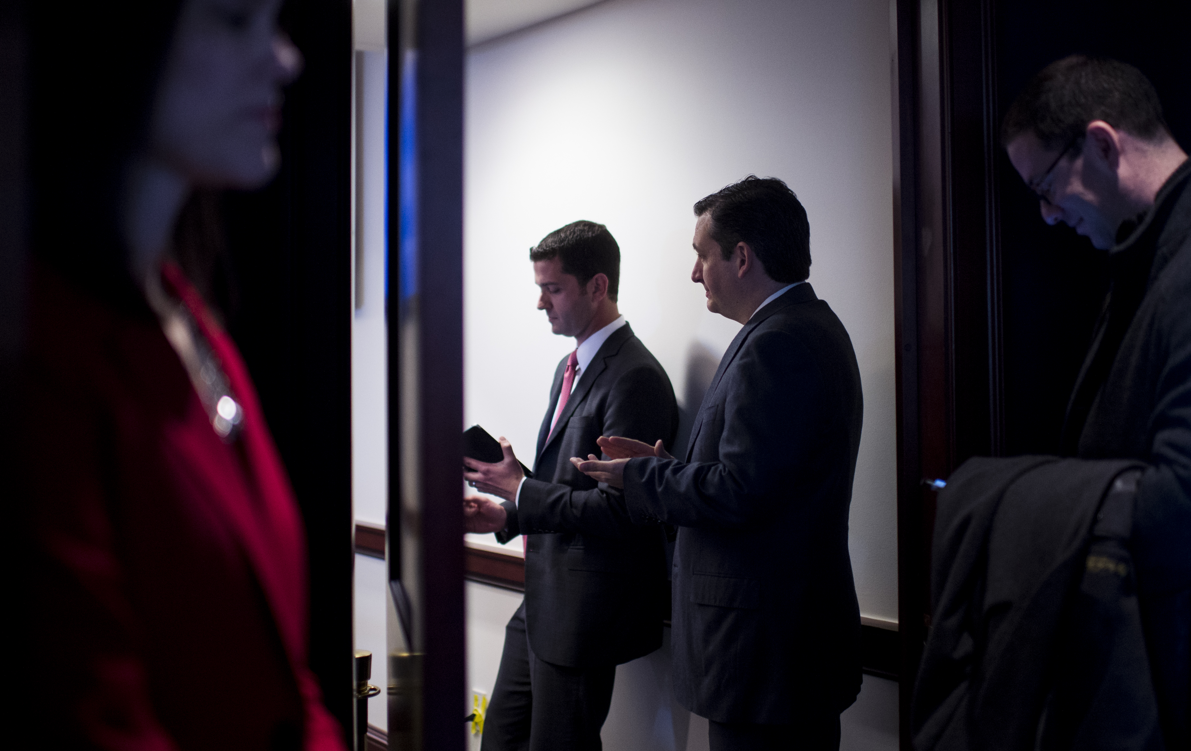 Sen. Ted Cruz (R-Texas) and Heritage Action CEO Mike Needham at the Conservative Policy Summit in Washington on Monday, Feb. 10, 2014.