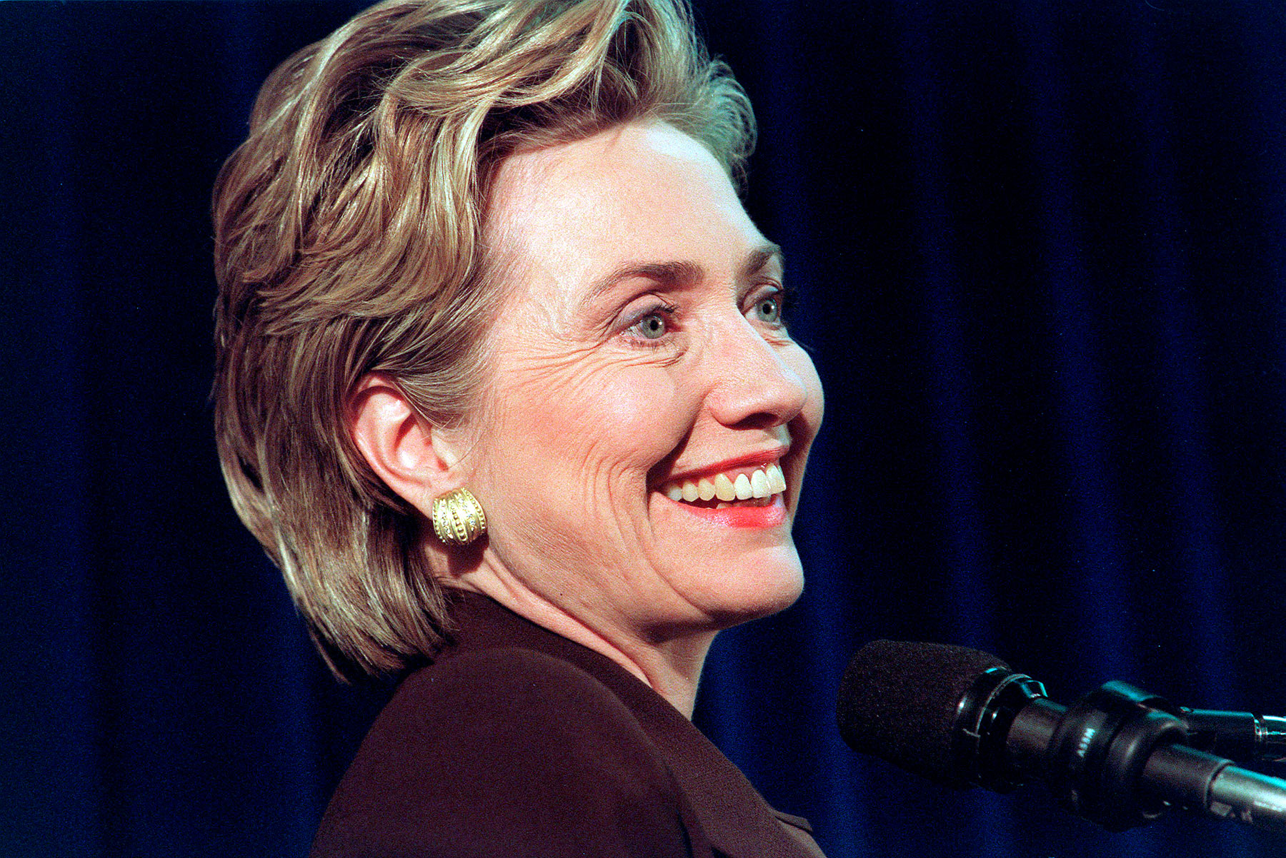 Hillary Clinton announces senatorial bid in New York City on Nov. 23, 1999.
