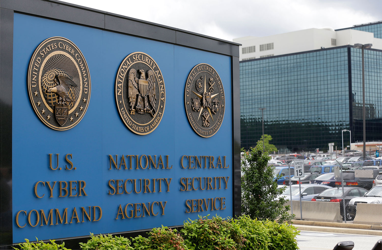 This June 6, 213 file photo shows the sign outside the National Security Agency (NSA) campus in Fort Meade, Md.