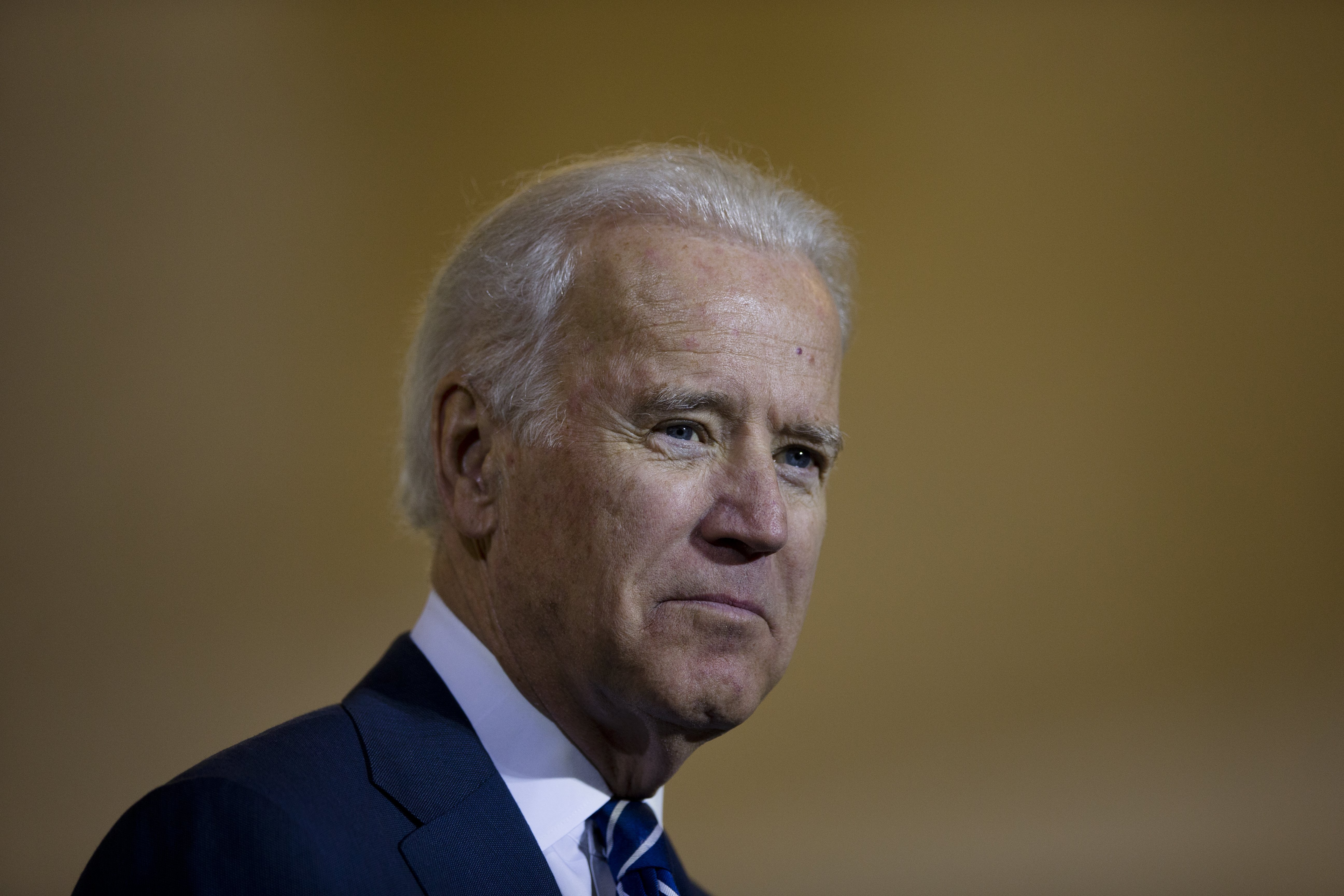Vice President Joe Biden listens to remarks at a news conference, Feb. 6, 2014, at 30th Street Station in Philadelphia.