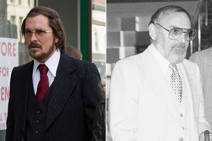 Christian Bale as Irving Rosenfeld (based on Melvin Weinberg) in American Hustle