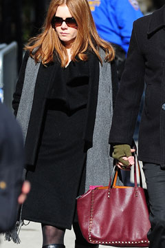 Amy Adams attends the funeral service for actor Philip Seymour Hoffman at St. Ignatius Of Loyola on February 7, 2014 in New York City.
