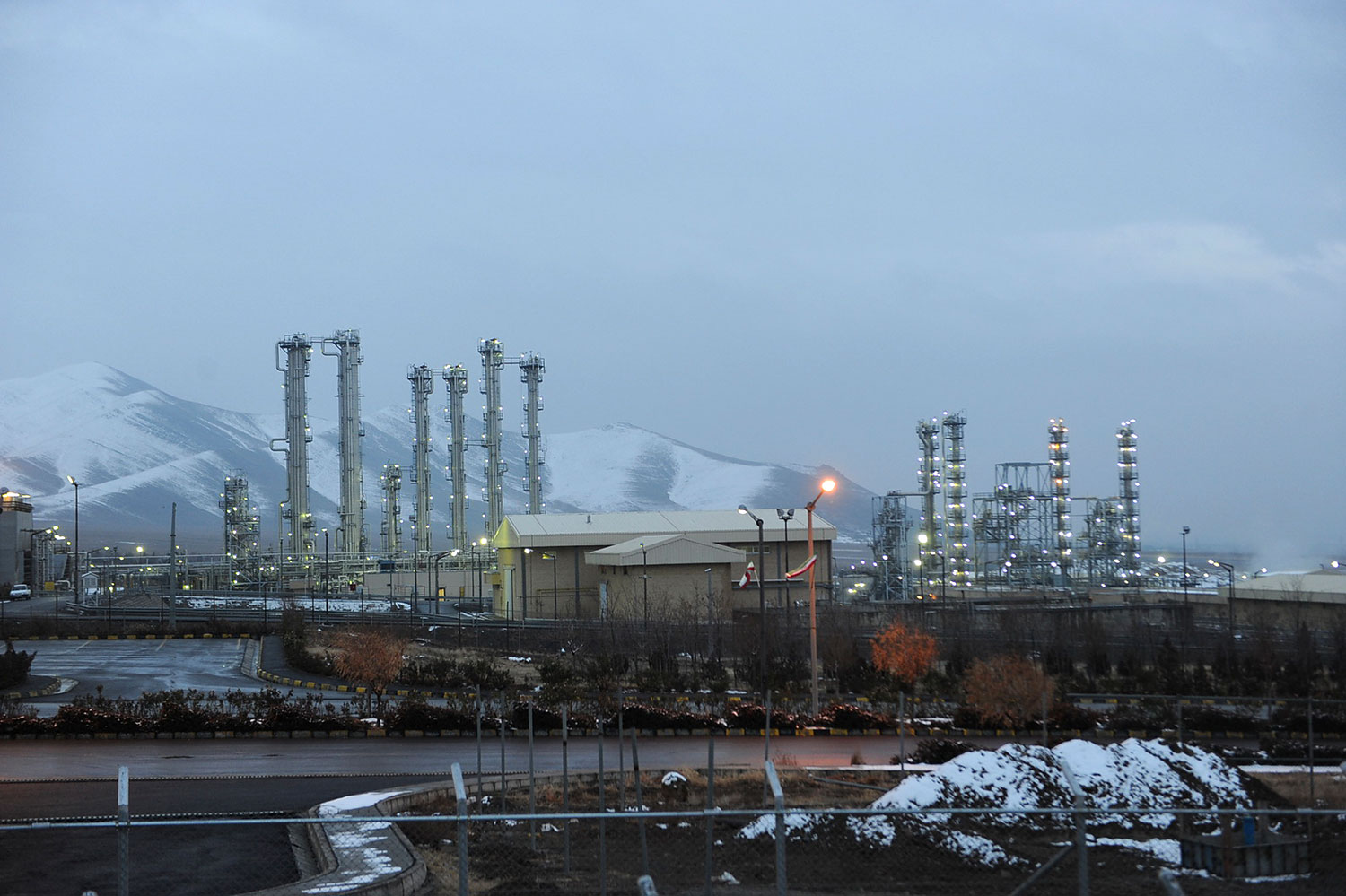 A view of Iran's heavy water nuclear facilities is seen, near the central city of Arak, in 2011.