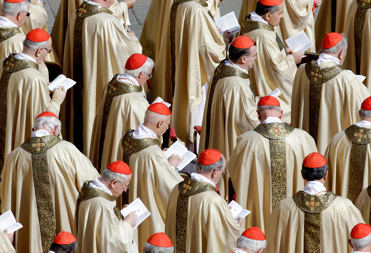 Cardinals attend Pope Francis' inaugural Mass in St. Peter's Square at the Vatican, in 2013.