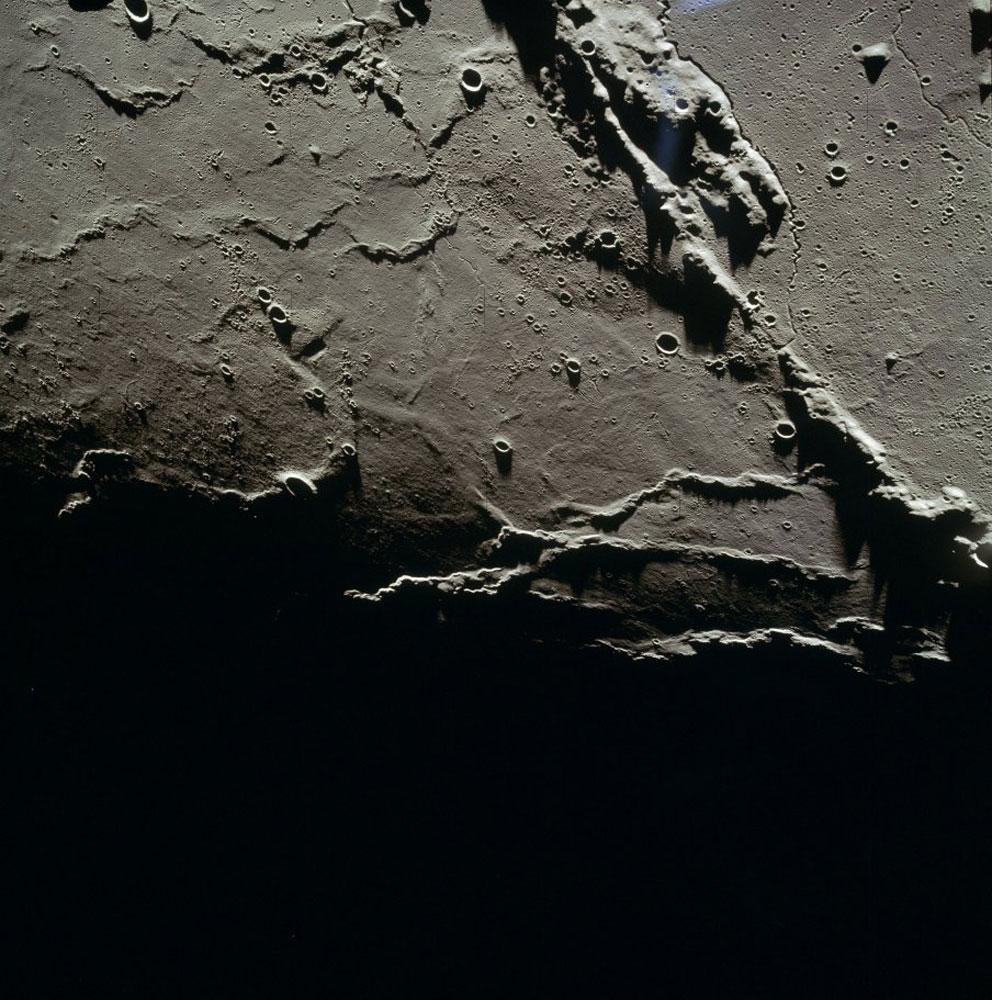From lunar orbit, Montes Agricola.
