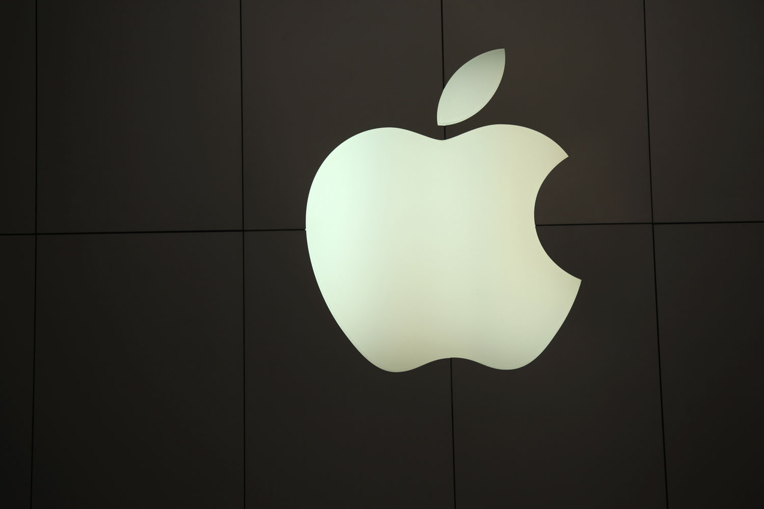 The Apple logo is pictured at the company's flagship retail store in San Francisco.